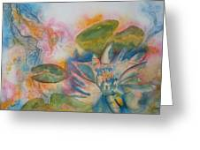 Lotus Flower Abstract Greeting Card
