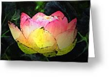 Lotus Fresco Greeting Card
