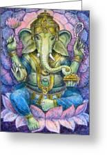 Lotus Ganesha Greeting Card