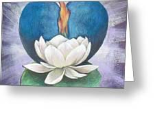 Lotus Heart Light Greeting Card