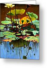 Lotus In July Greeting Card by John Lautermilch