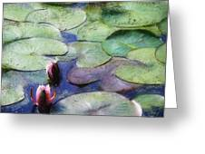 Lotus Lake Greeting Card