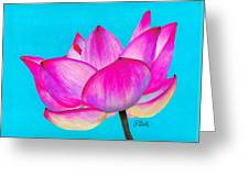 Lotus  Greeting Card by Laura Bell