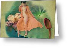 Lotus Maiden Greeting Card
