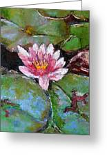 Lotus Of The Pond Greeting Card