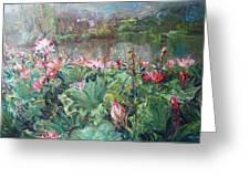 Lotus Pond-3 Greeting Card