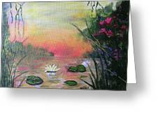 Lotus Pond Fantasy Greeting Card