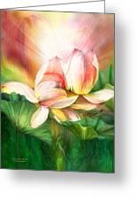 Lotus - Spirit Of Life Greeting Card