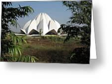 Lotus Temple Greeting Card