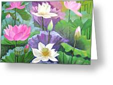 Lotus Trio Greeting Card