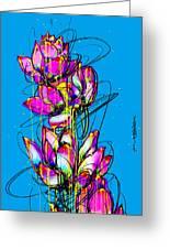 Lotuses  Greeting Card