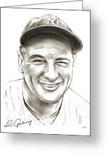 Lou Gehrig Greeting Card
