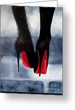 Louboutin At Midnight Greeting Card