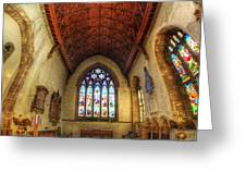 Loughborough Church - Altar Vertorama Greeting Card
