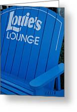 Louie S Lounge Greeting Card