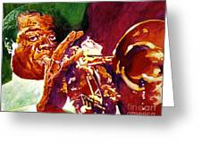 Louis Armstrong Pops Greeting Card