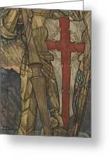 Louis B. Davis 1861-1941 St. George, Study For A Window At Wynyard Park Greeting Card