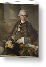 Louis-gabriel Blanchet Paris 1705 - 1772   Portrait Of A Gentleman Greeting Card