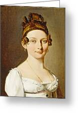 Louis-leopold Boilly - Portrait Of A Lady Greeting Card