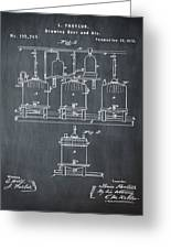 Louis Pasteur Brewing Beer And Ale Patent 1873 Chalk Greeting Card