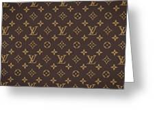 Louis Vuitton Texture Greeting Card