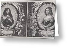 Louis Xiii And Anna D'austriche Greeting Card
