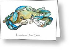 Louisiana Blue Crab Greeting Card by Elaine Hodges