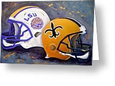 Louisiana Fan Greeting Card