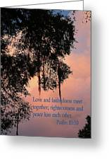Louisiana Moss In Sunset Ps.85 V 10 Greeting Card