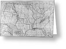 Louisiana Purchase Map Greeting Card