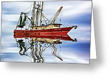 Louisiana Shrimp Boat 4 - Paint Greeting Card
