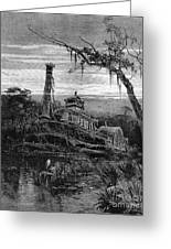 Louisiana: Steamboat Wreck Greeting Card