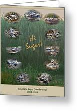 Louisiana Sugar Cane Poster 2008-2009 Greeting Card