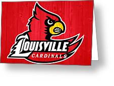 Louisville Cardinals Barn Door Greeting Card