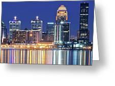 Louisville Kentucky Lights Greeting Card