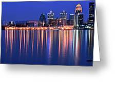 Louisville Lights Up Nicely Greeting Card