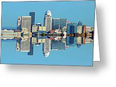 Louisville Skyline Reflection Greeting Card