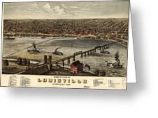 Louisville Vintage Map Greeting Card