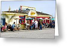 Loulou's On The Commercial Pier In Monterey-california Greeting Card