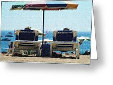 Loungers Greeting Card