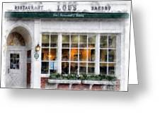 Lou's Of Hanover New Hampshire Greeting Card
