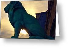 Louve Lion Greeting Card