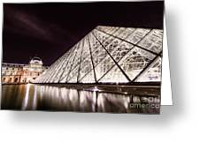 Louvre Museum 4 Art Greeting Card