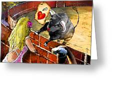 Lova Bull Greeting Card