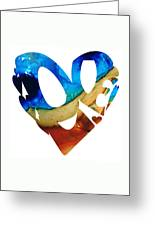 Love 6 - Heart Hearts Valentine's Day Greeting Card