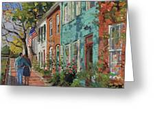 Love Along The C@o Canal Greeting Card