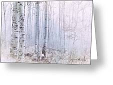 Love Amidst The Aspens Greeting Card by Kevyn Bashore