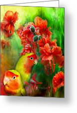 Love Among The Poppies Greeting Card