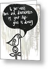 Love And Abundance Greeting Card