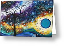 Love And Laughter By Madart Greeting Card by Megan Duncanson